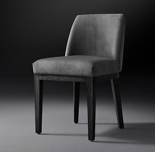 20278ca162 Morgan Slope Leather Side Chair Collection - Black Oak   RH Modern
