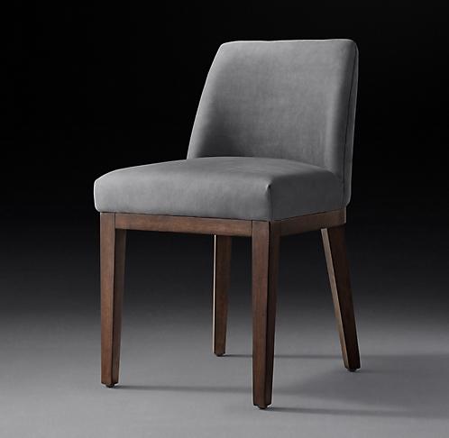 ec6390950e Morgan Slope Leather Side Chair Collection - Espresso Walnut   RH Modern