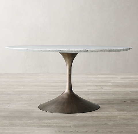 Round Oval Tables Rh, 48 Round Marble Table Top