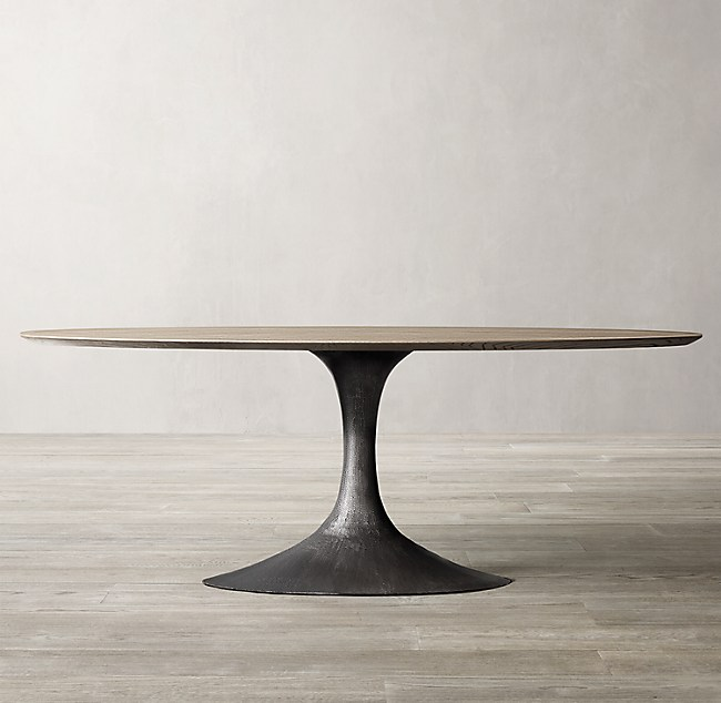 Aero Wood Oval Dining Table