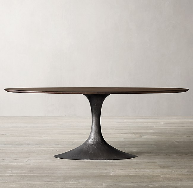 Aero Wood Oval Dining Table