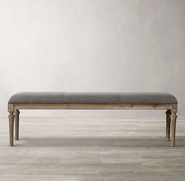 Pleasant Maison Leather End Of Bed Bench Machost Co Dining Chair Design Ideas Machostcouk