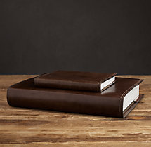 Artisan Leather Photo Journals - Chocolate