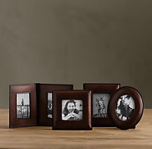 Mini Artisan Leather Tabletop Frames - Chocolate
