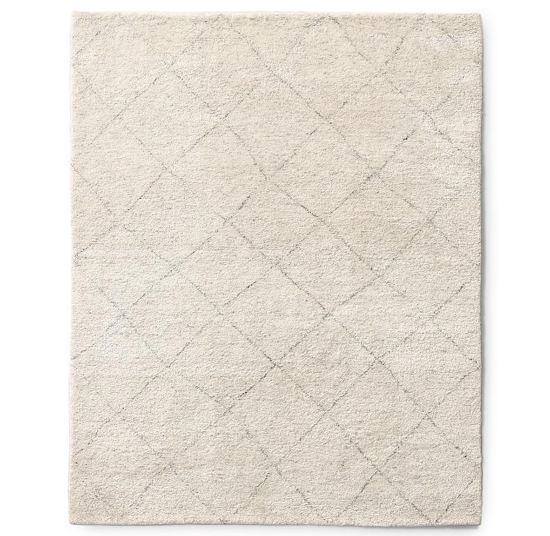 Iman Moroccan Diamond Hand Knotted Wool Rug