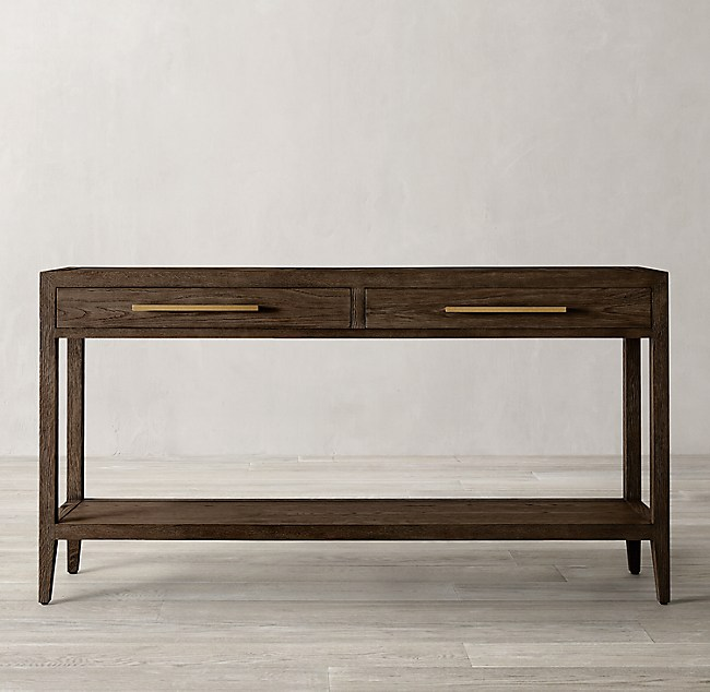 French Contemporary Console Table With 2 Drawers