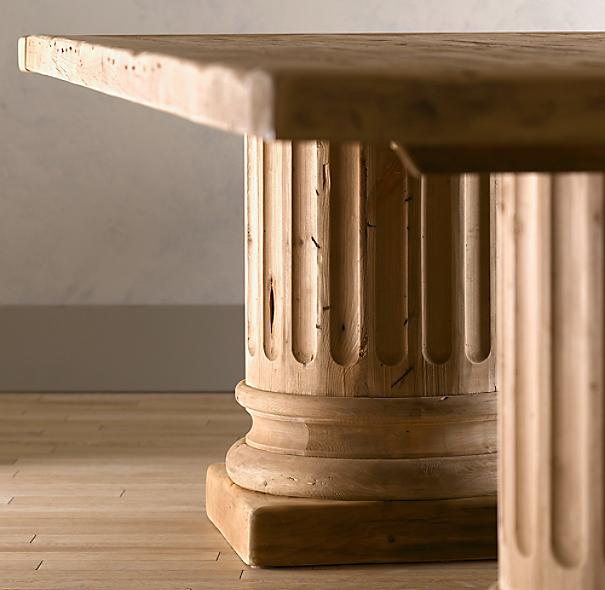Salvaged Wood Architectural Column Rectangular Extension
