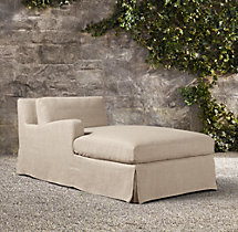 Belgian Slope Arm Outdoor Left-Arm Chaise