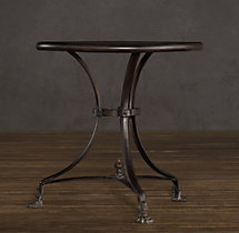 19th C. French Lion's Foot Brasserie Table