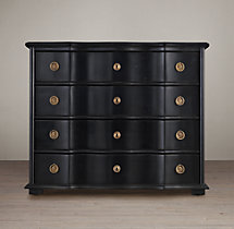 18th C. Italian Baroque Wood 4-Drawer Dresser