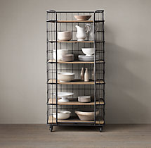 Circa 1900 Caged Baker's Rack Single Shelving