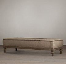 "Deconstructed 72"" French Napoleonic Ottoman"