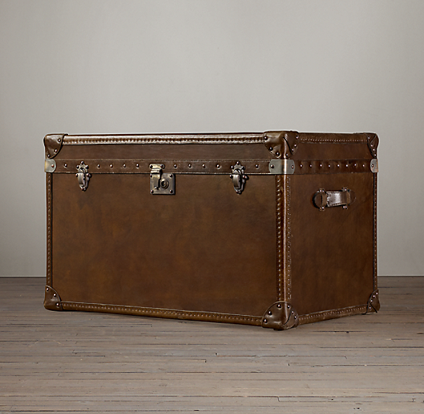 Mayfair Steamer Trunk Tall Coffee Table Vintage Cigar