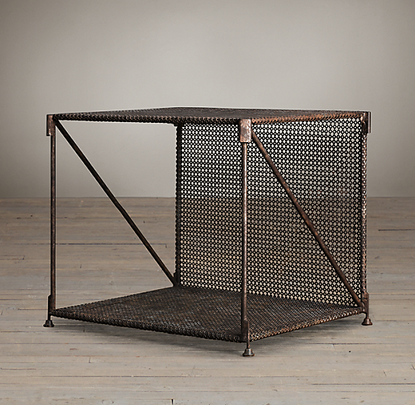 Restoration Hardware French Coffee Table: 1920s French Metal Side Table