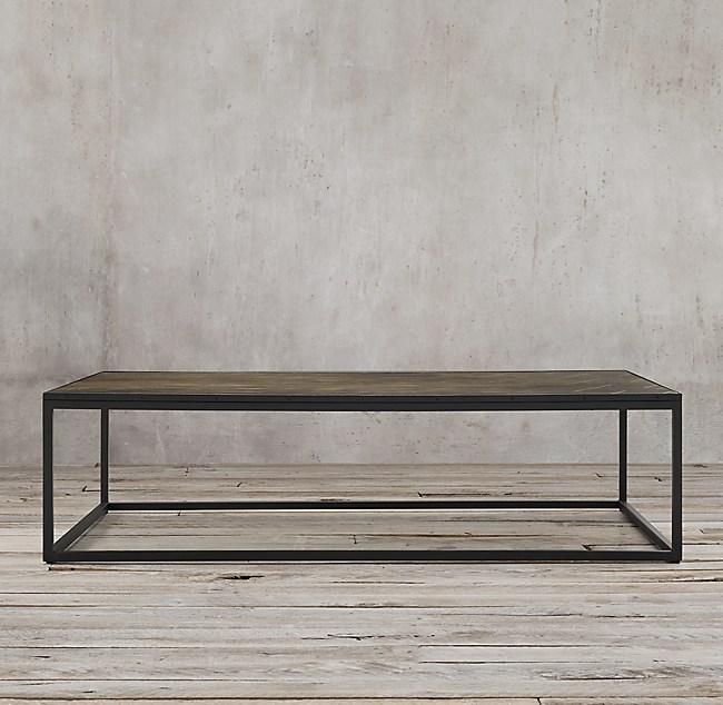 Restoration Hardware Coffee Table.Metal Parquet Rectangular Coffee Table