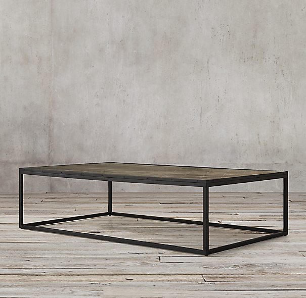 Metal Parquet Coffee Table Click To Zoom
