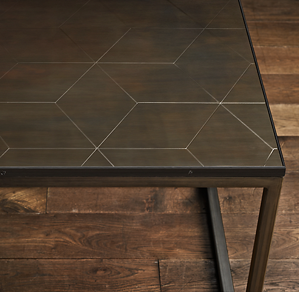 Metal Parquet Side Table