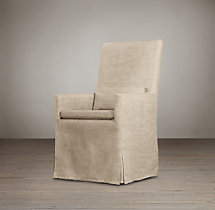 Belgian Track Arm Slipcovered Armchair