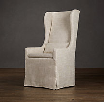 Belgian Wingback Slipcovered Armchair