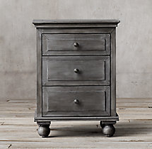 "22"" Annecy Metal-Wrapped Closed Nightstand"