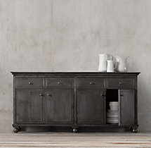 "Annecy Metal-Wrapped 78"" Panel Large Sideboard"
