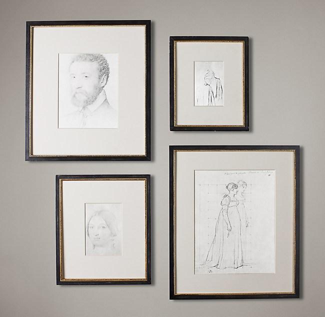 Beaded Fillet Gallery Frames - Black