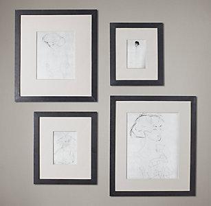 black metal wide gallery frames
