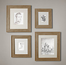 Weathered Oak Wide Gallery Frames