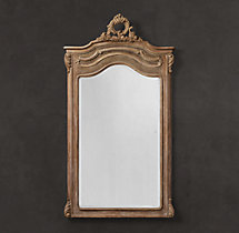 Carved Pediment Mirror - Natural