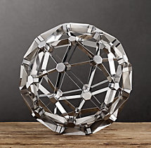 Polyhedron Model - Polished Nickel