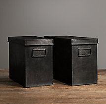 Industrial Metal Office Storage Desk Box