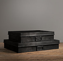 Industrial Metal Office Storage Document Box