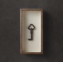 Shadowboxed Vintage Key 3