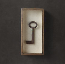 Shadowboxed Vintage Key 4