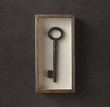 Shadowboxed Vintage Key 6