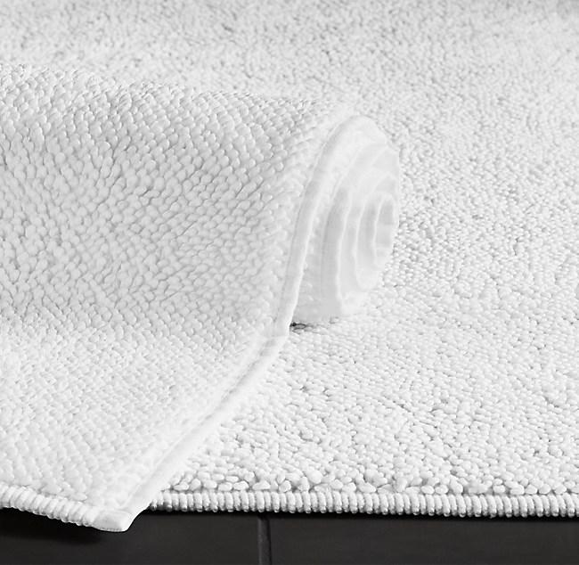 Turkish cotton loop bath rug for Restoration hardware bathroom rugs