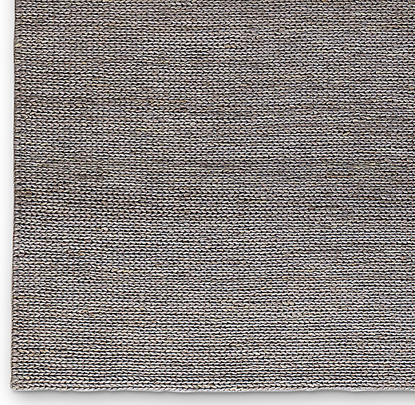 Hand Braided Jute Rug Swatch Platinum