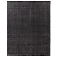 Distressed Wool Rug - Silver
