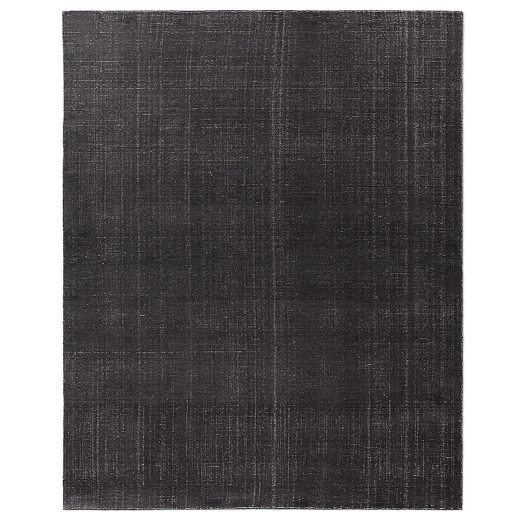 Distressed Wool Rug - Platinum