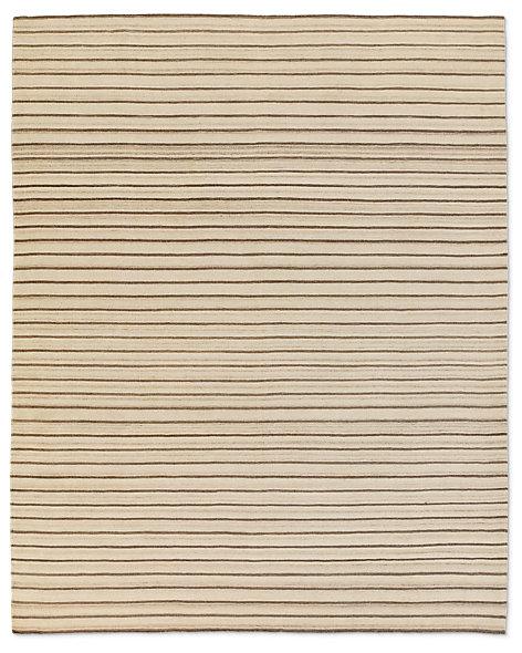 Pinstripe Flatweave Rug Ivory Grey