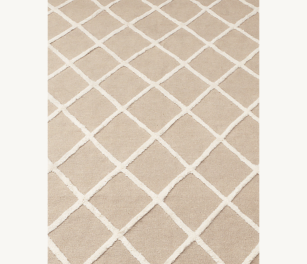 Diamante Flatweave Linen Rug - Natural/Cream
