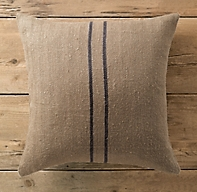 Vintage Stripe Flour Sack Linen Pillow