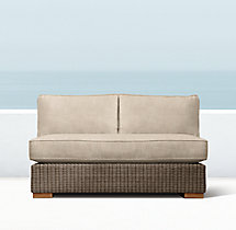Biscayne Luxe Two-Seat Armless Sofa