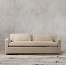 7' Belgian Slope Arm Upholstered Sofa