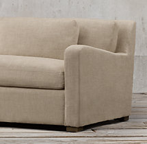 8' Belgian Slope Arm Upholstered Sofa