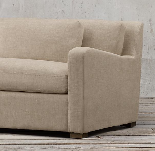 Belgian Slope Arm Upholstered Sofa