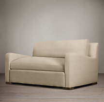 5' Belgian Slope Arm Upholstered Sofa