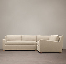 Belgian Slope Arm Upholstered Corner Sectional