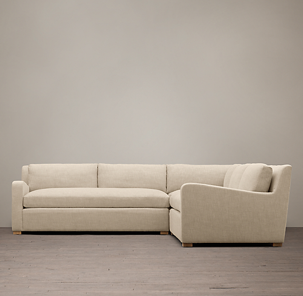Belgian Slope Arm Upholstered Customizable Sectional