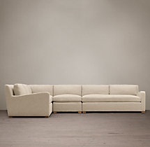 Preconfigured Belgian Slope Arm Upholstered L-Sectional